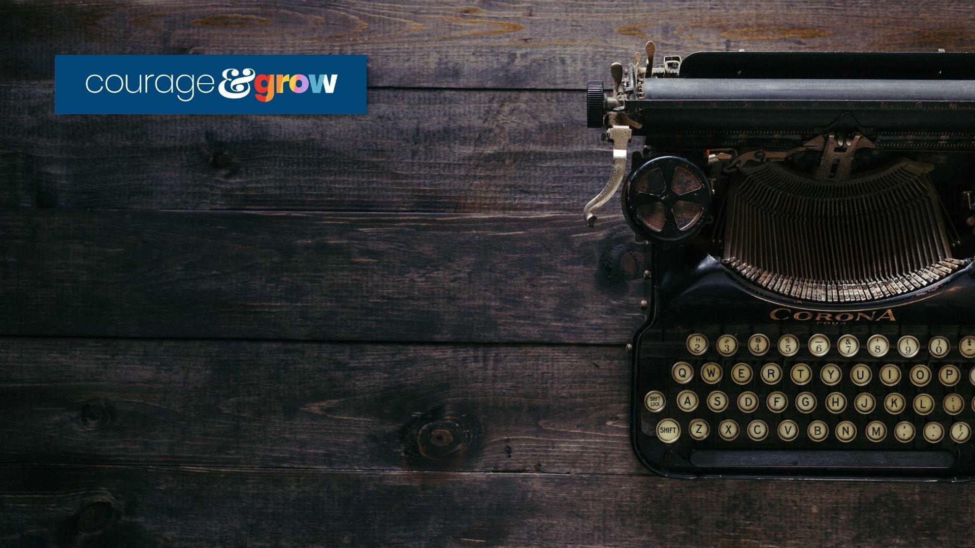 corona typewriter on a wood table _ copywriting mistakes