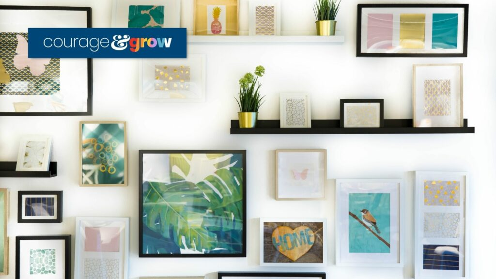 gallery of images on a wall _ how to optimize images for web without losing quality