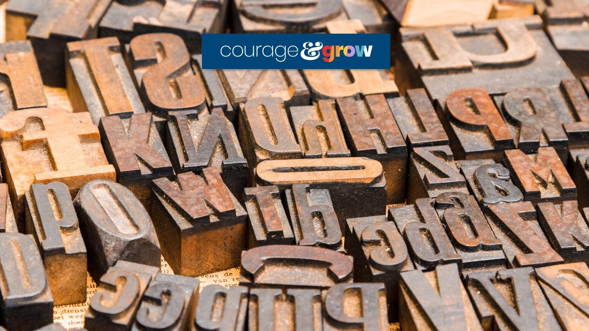 letterpress letter blocks — font mistakes